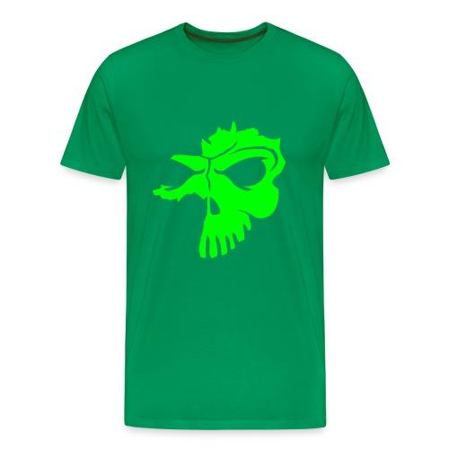 Skull Grün - Männer Premium T-Shirt