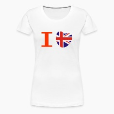 I heart I love Union Jack British flag heart T-Shirts