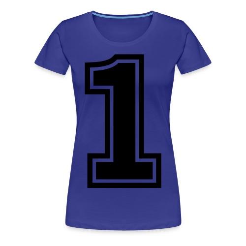 NUMBER 1 - Women's Premium T-Shirt