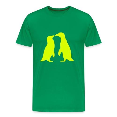 Pinguin kiss - Premium T-skjorte for menn