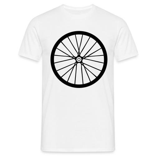 Laufrad schwarz - Männer T-Shirt