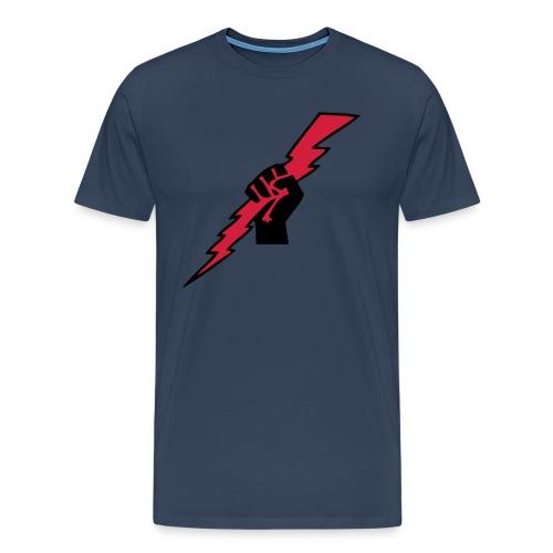 Lightning fist - Premium T-skjorte for menn