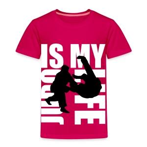 T shirt enfant judo is my life - T-shirt Premium Enfant