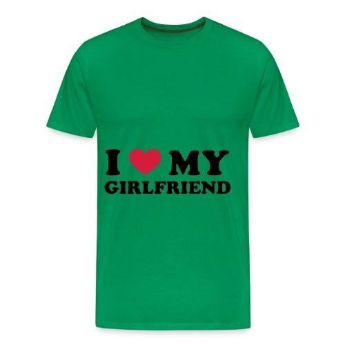I love my girlfriend - Premium-T-shirt herr