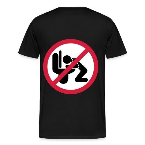 Svart T-shirt (Brickshirt) - Premium-T-shirt herr