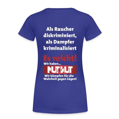 do it yourself mit Mut zur Wut Plakat auf dem Rücken - Frauen Premium T-Shirt