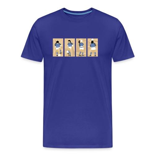 Live is Life - Maradona - Heren - Mannen Premium T-shirt