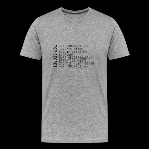 Top Secret (black) - Miesten premium t-paita