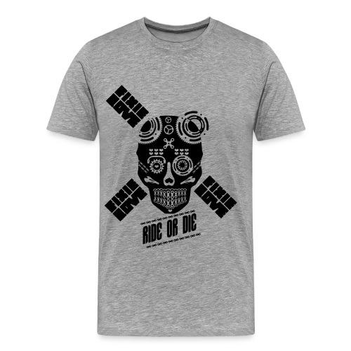 ride or die skull bike - T-shirt Premium Homme