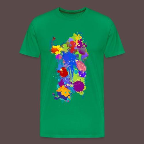 Sardegna, Silhouette Paint - uomo - Maglietta Premium da uomo