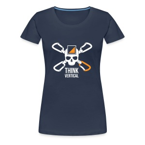 Skull Think Vertical Orange T-shirt - Maglietta Premium da donna