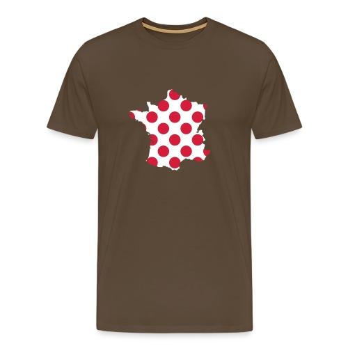 """Tour  """"Bergwertung"""" – weiß - Männer Premium T-Shirt"""