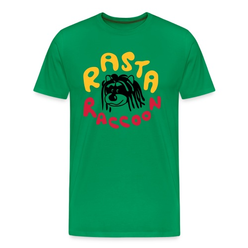 Rasta Raccoon - Men's Premium T-Shirt