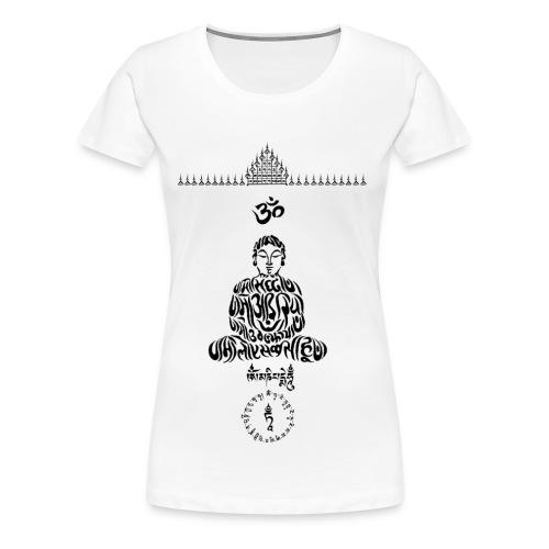 SIMBOLI MAGICI BUDDISTI - Om, Hum, Mantra, Unalome - Maglietta Premium da donna