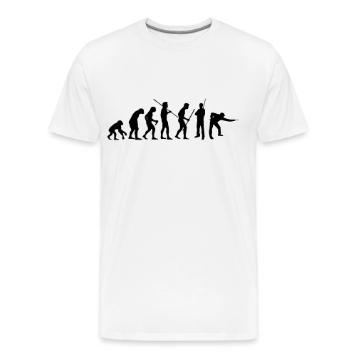 Snooker Evolution white - Männer Premium T-Shirt