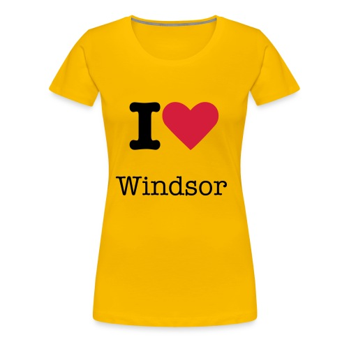 I Love Windsor - Women's Premium T-Shirt