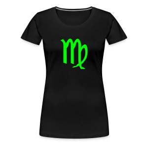 Virgo glyph Signs of the Zodiac symbol T-Shirts - Women's Premium T-Shirt