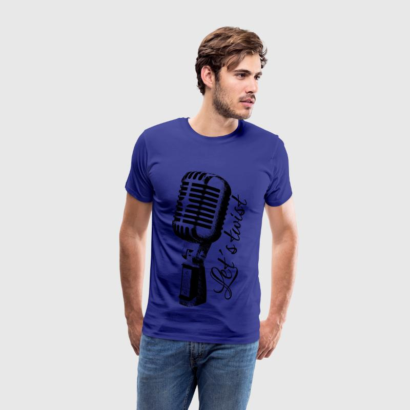 Royal blue Mike: Let's twist T-Shirts - Men's Premium T-Shirt