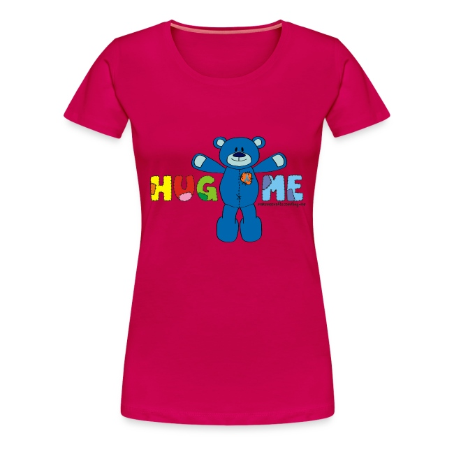 Women's Girlie Hug ME T-Shirt +LDIFME Logo