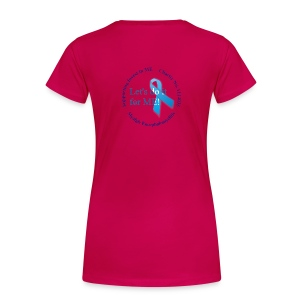Women's Girlie Hug ME T-Shirt +LDIFME Logo - Women's Premium T-Shirt