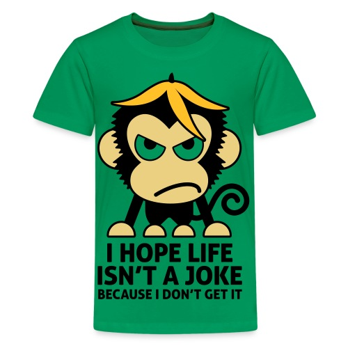 Angry monkey - Teenager premium T-shirt