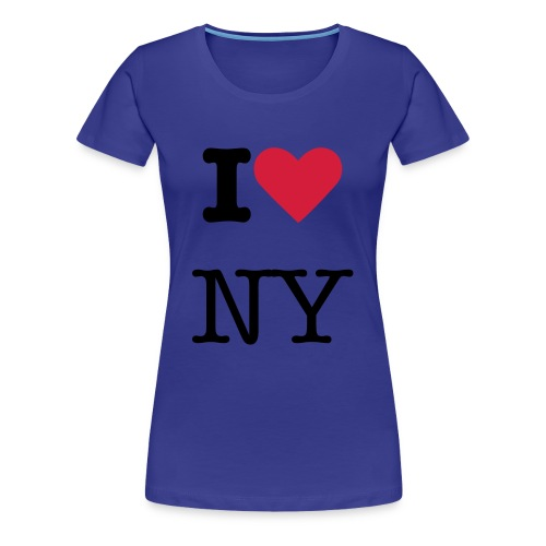 I Love New York T-shirt - Women's Premium T-Shirt