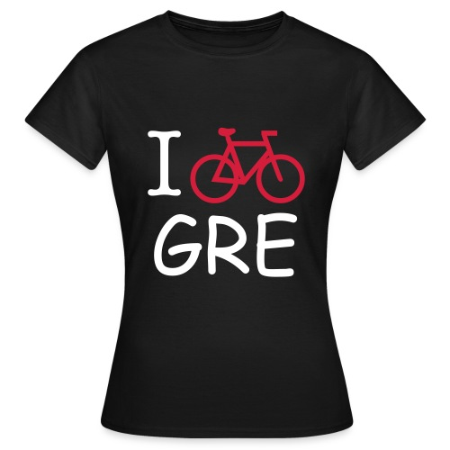 T-SHIRT FILLE BICYCLE IN GRENOBLE- NOIR - T-shirt Femme