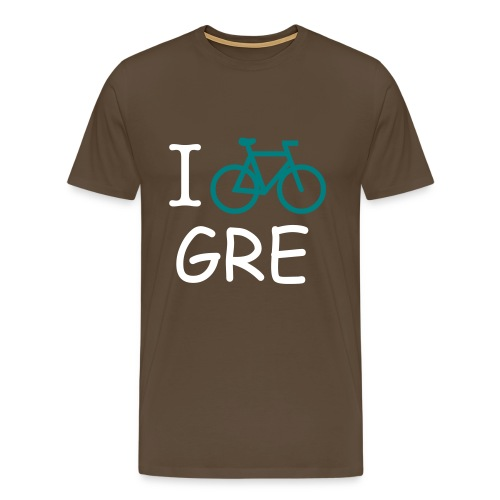 T-SHIRT HOMME BICYCLE IN GRENOBLE- MARRON - T-shirt Premium Homme