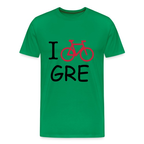 T-SHIRT HOMME BICYCLE IN GRENOBLE- VERT - T-shirt Premium Homme