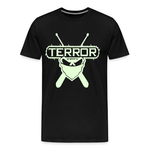 Terror im dunkeln leuchtend - Männer Premium T-Shirt