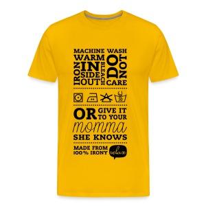 T-shirt: Moeder weet het beter - Mannen Premium T-shirt