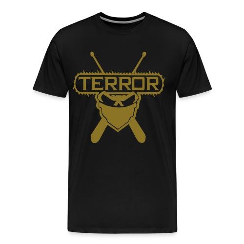 Terror UNTERGRUNDKINGZ Gold - Männer Premium T-Shirt