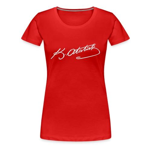 k.atatürk - Frauen Premium T-Shirt