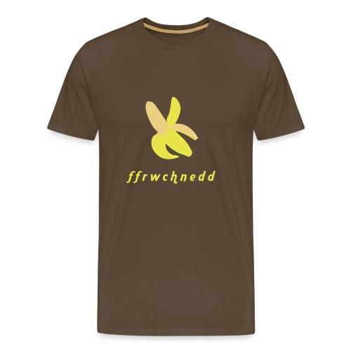 Ffrwchnedd - Banana - Men's Premium T-Shirt