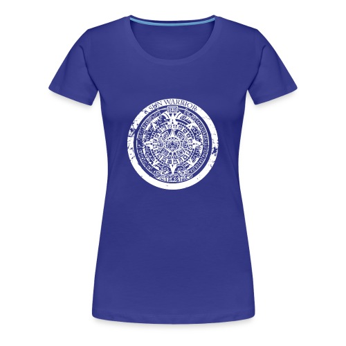 Sun Warrior t-shirt with Mayan calendar - Women's Premium T-Shirt