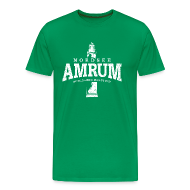 T-Shirts ~ Männer Premium T-Shirt ~ Amrum Nordsee (weiss oldstyle)