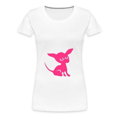 Chihuahua Rose - T-shirt Premium Femme