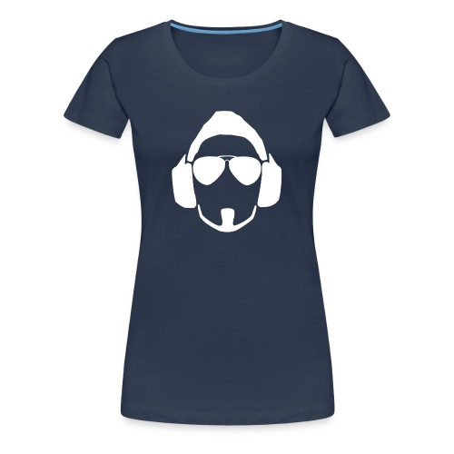 Girl White Head Logo - Women's Premium T-Shirt