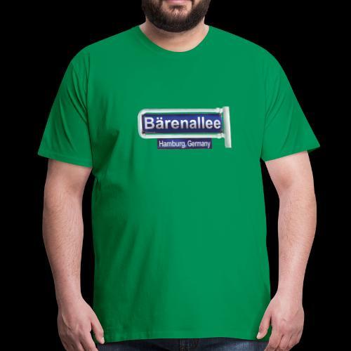 Hamburg, Bärenallee, altes Schild - Männer Premium T-Shirt