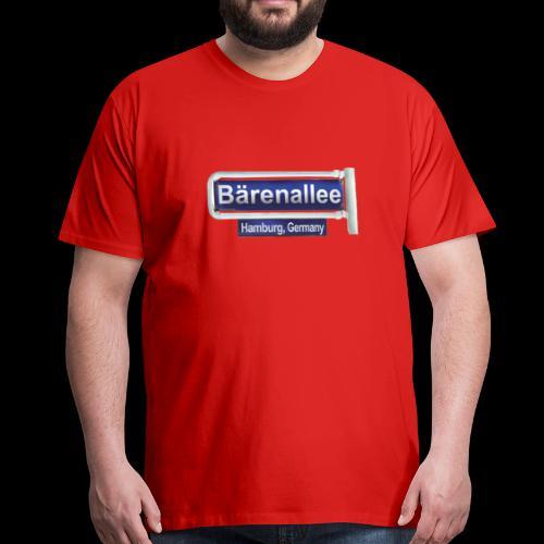 HH-Wandsbek, Schild Baerenallee - Männer Premium T-Shirt