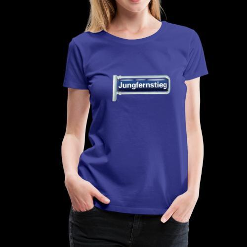 Hamburg, Jungfernstieg, altes Schild - Frauen Premium T-Shirt