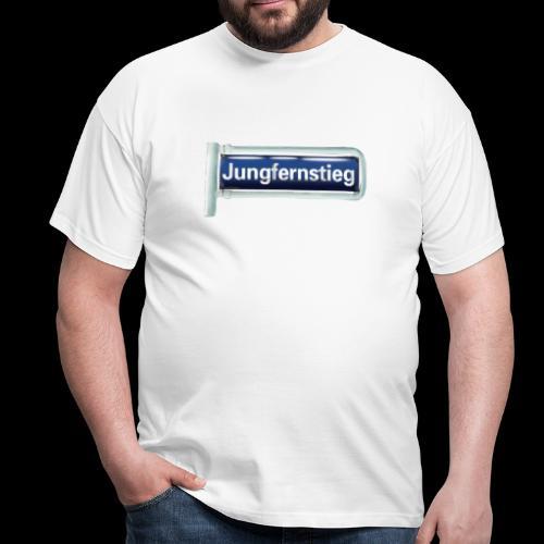 Haamburg-Shirt_ Straßenschild Jungfernstieg - Männer T-Shirt