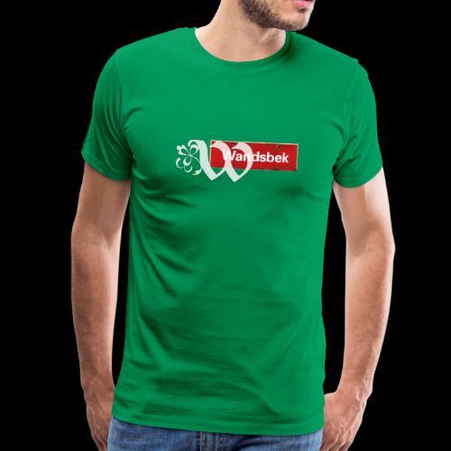 HH-Wandsbek,Ortsschild mit Ornament-Initial - Männer Premium T-Shirt