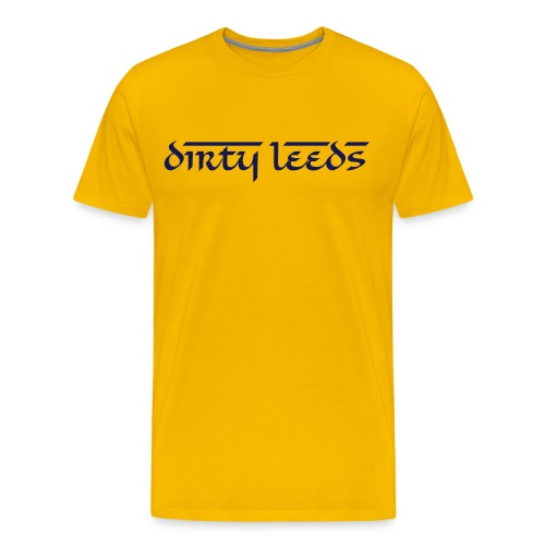 Dirty Leeds (Yellow) - Men's Premium T-Shirt