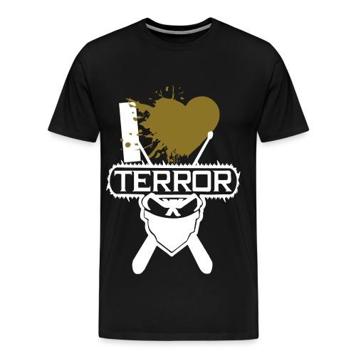 I Love Terror *Gold* - Männer Premium T-Shirt