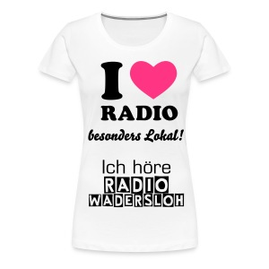 Frauen Shirt - I Love Radio  - Frauen Premium T-Shirt
