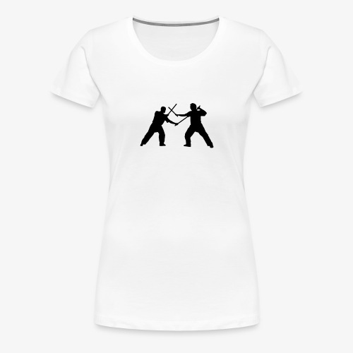 Eskrima | Doppelstock - Frauen Premium T-Shirt