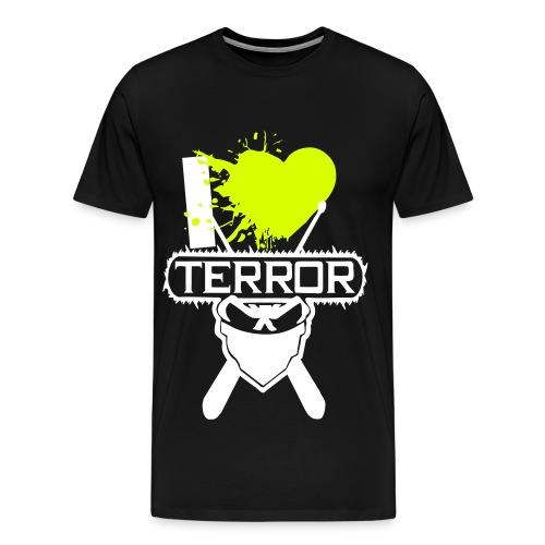 I Love Terror *Neongelb* - Männer Premium T-Shirt