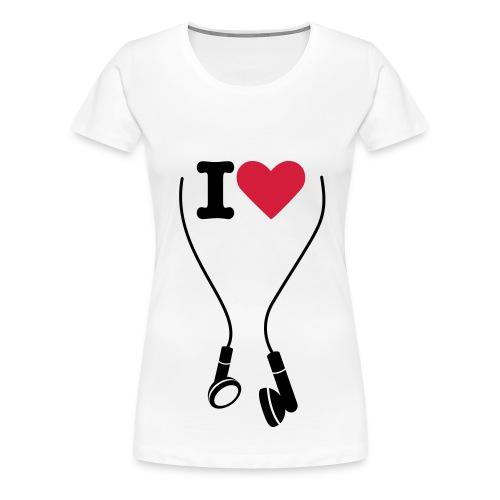 LOVE MUSIC T-SHRIT WOMEN's - Women's Premium T-Shirt