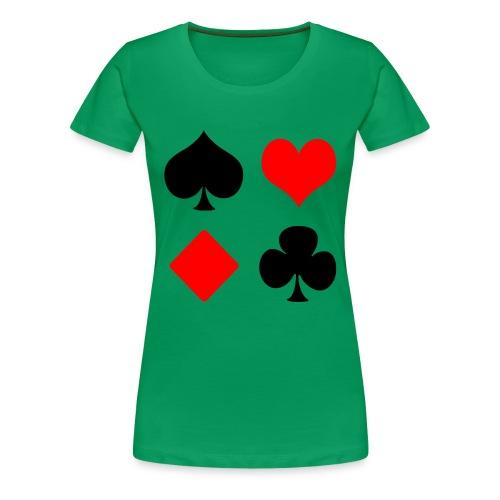 Cartes à jouer, Poker - T-shirt Premium Femme